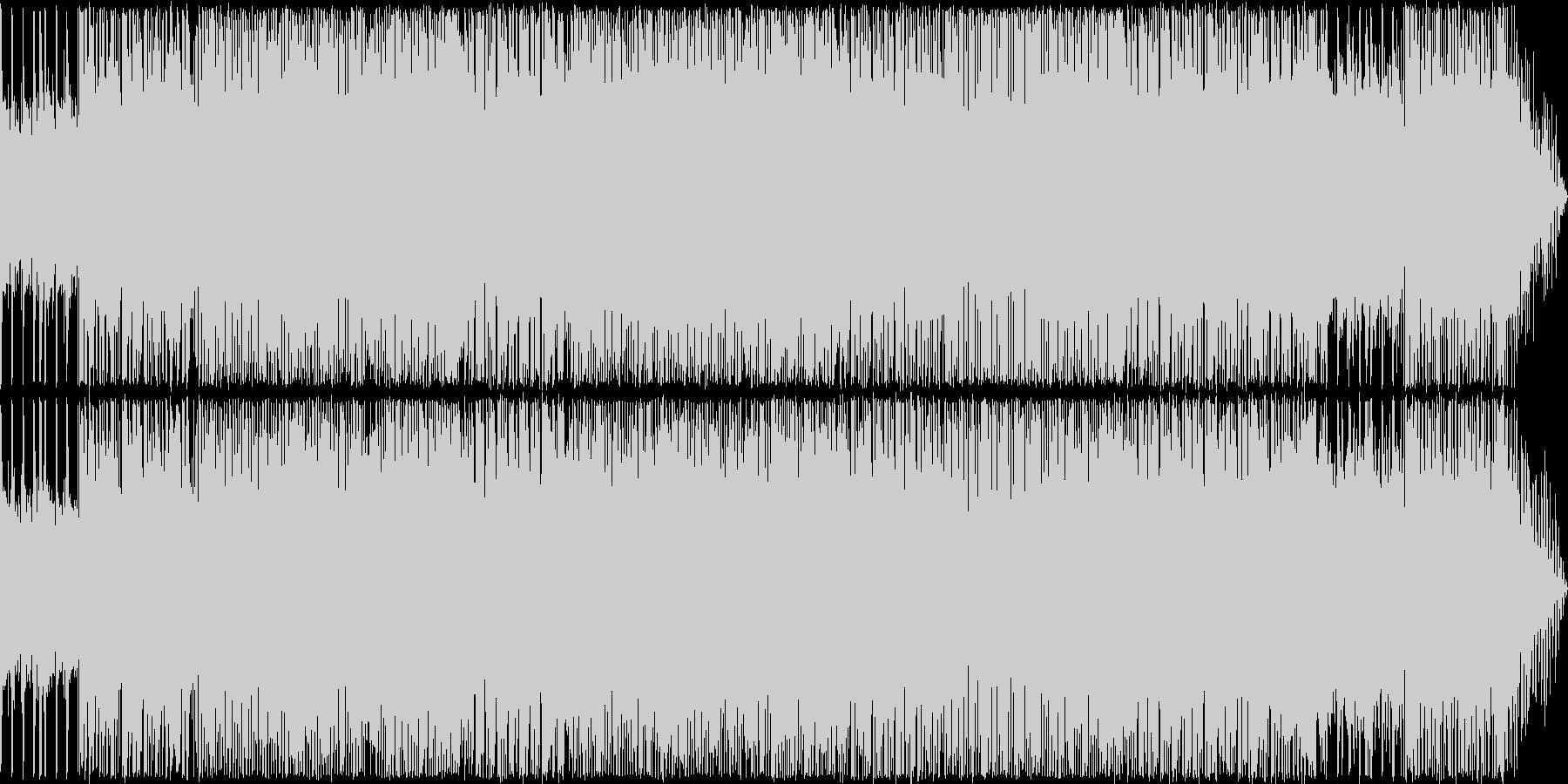 ハイテンションなハードロックの未再生の波形