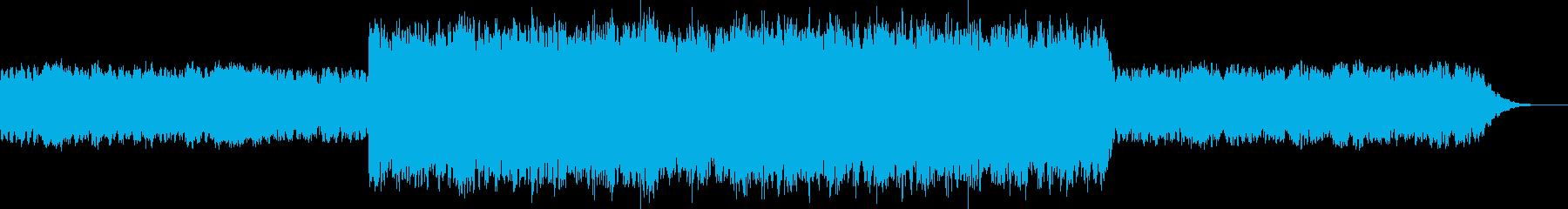 不思議な感じのポップスの再生済みの波形
