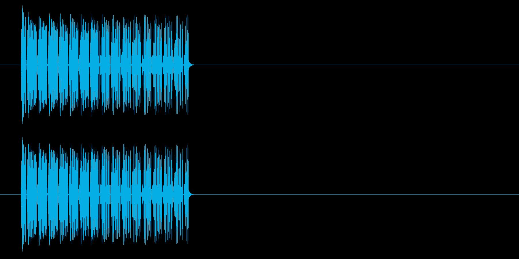 ファミコン風 下降音 落下音の再生済みの波形