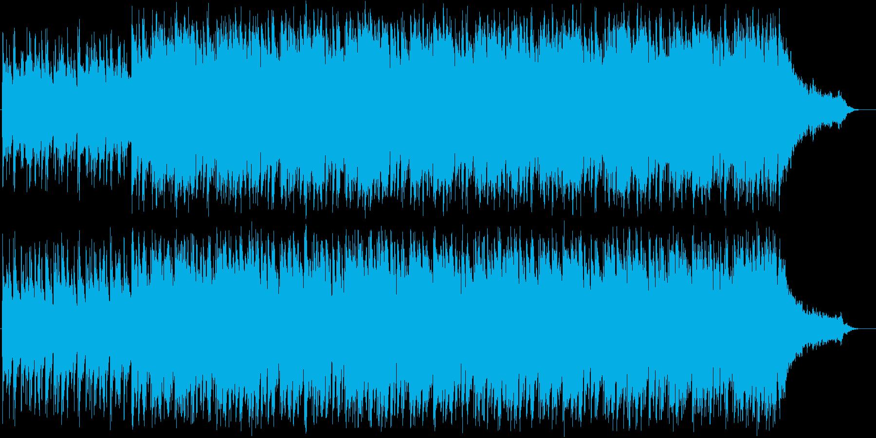 軽快、パワフルなアコースティックBGMの再生済みの波形