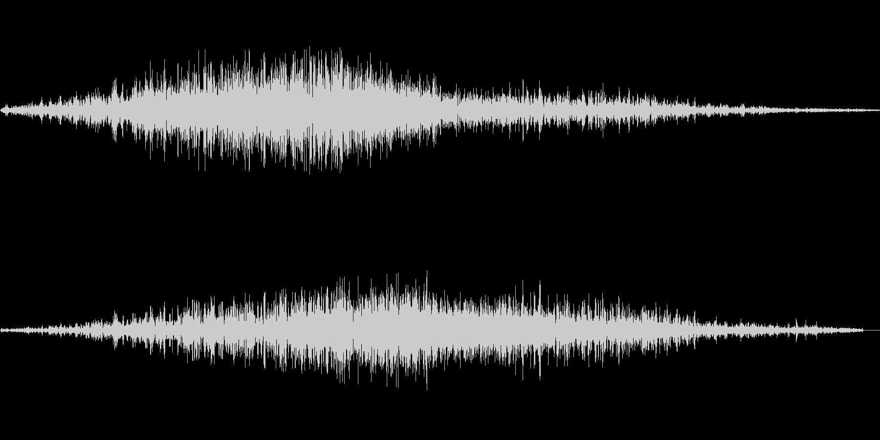 シャーッ(直線を書く)の未再生の波形