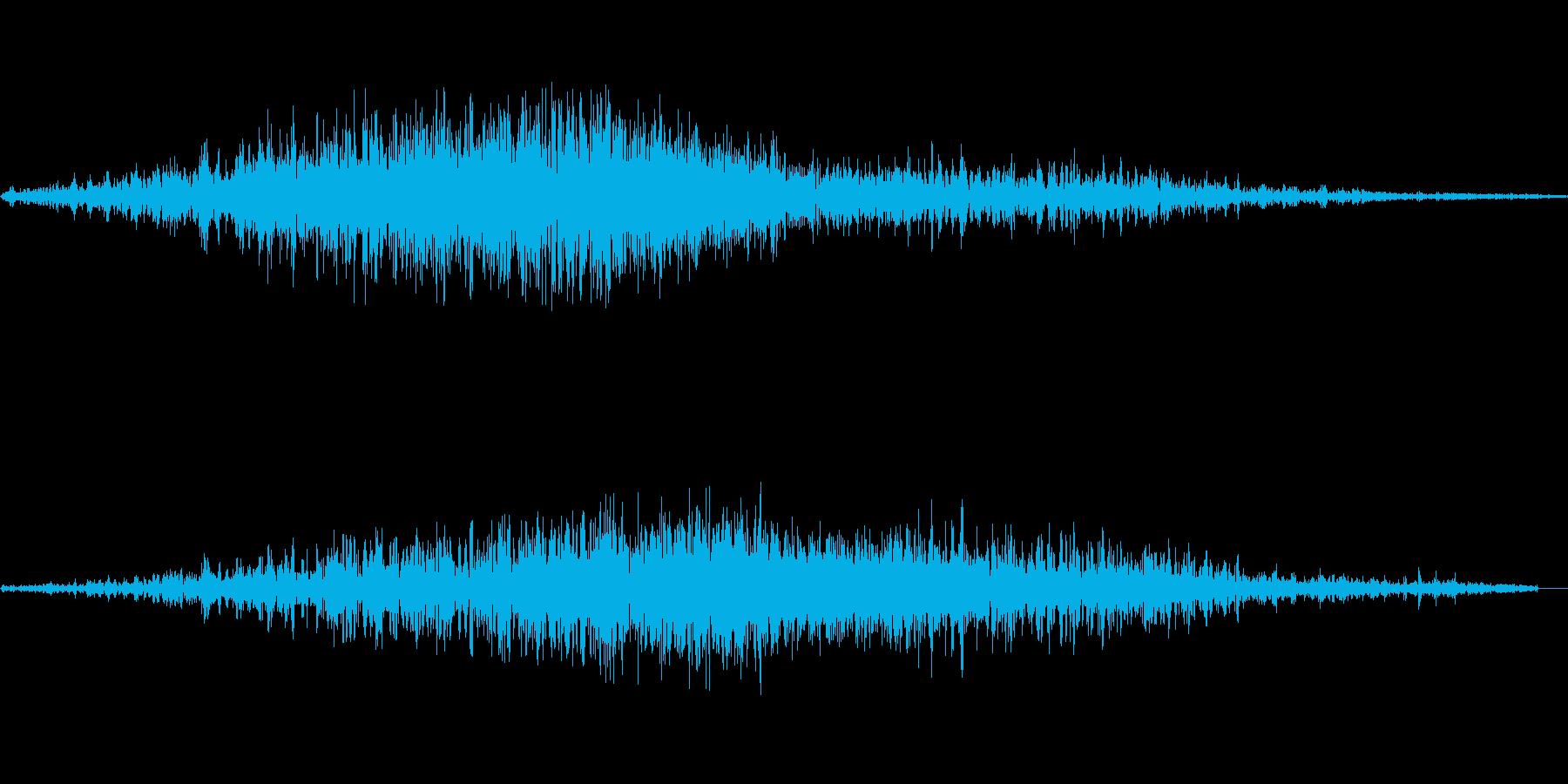 シャーッ(直線を書く)の再生済みの波形