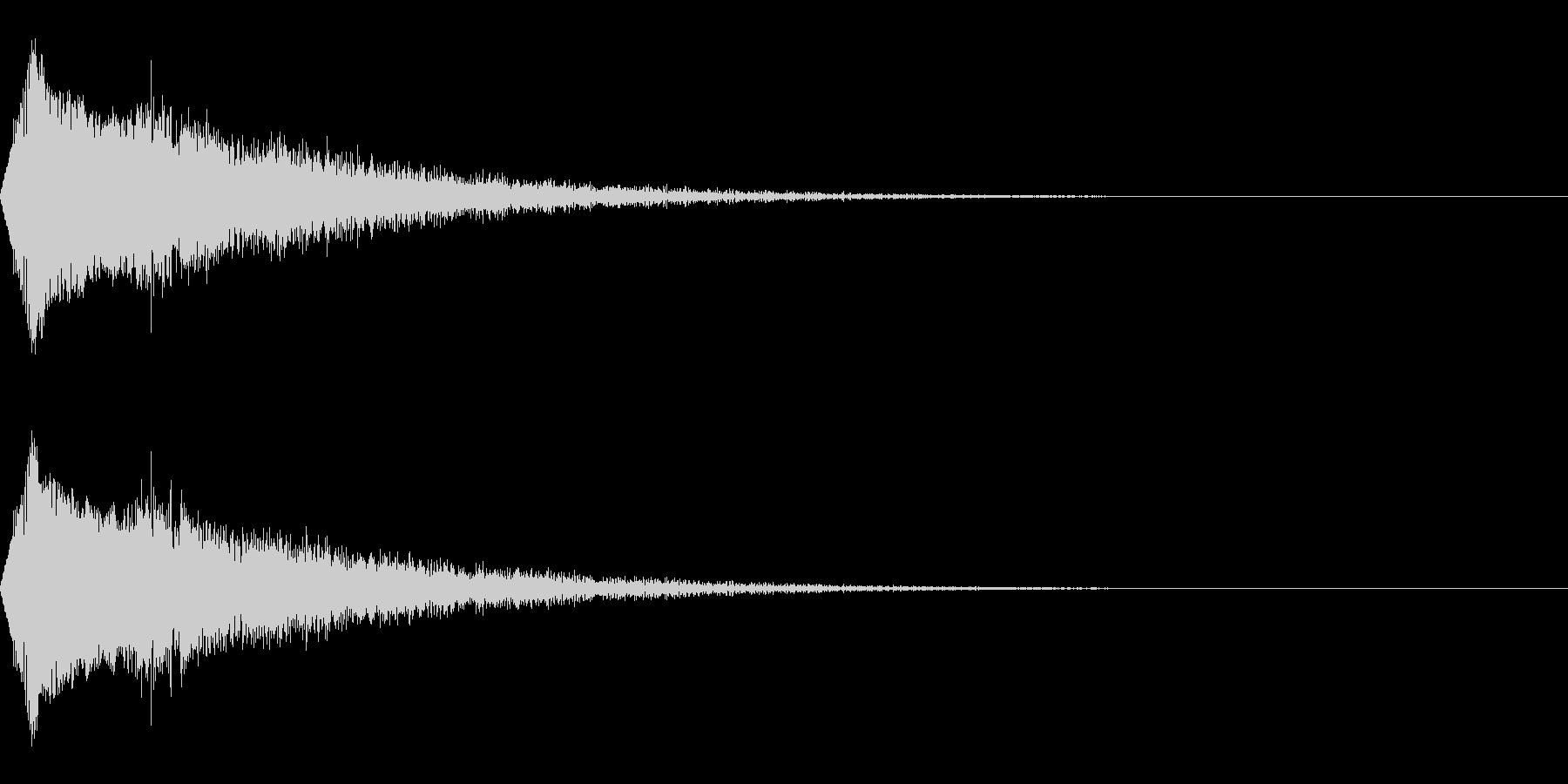 場面転換/キラキラ/流れ星/映像・動画の未再生の波形