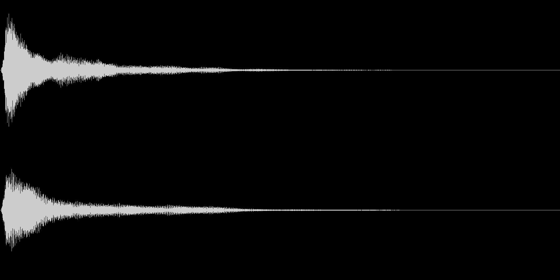 サスペンスに最適!ピアノの弦を弄ぶ音6の未再生の波形