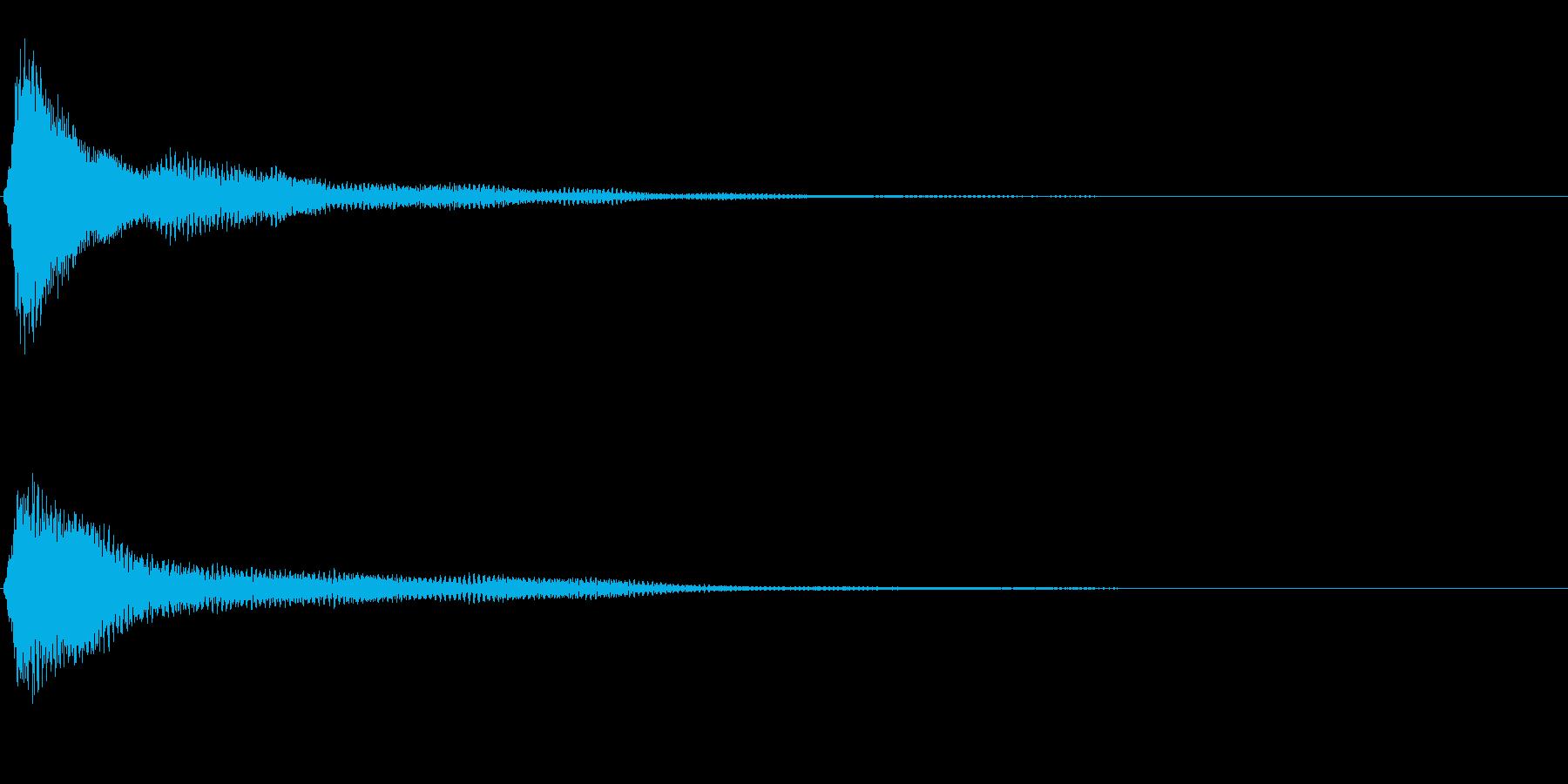 サスペンスに最適!ピアノの弦を弄ぶ音6の再生済みの波形