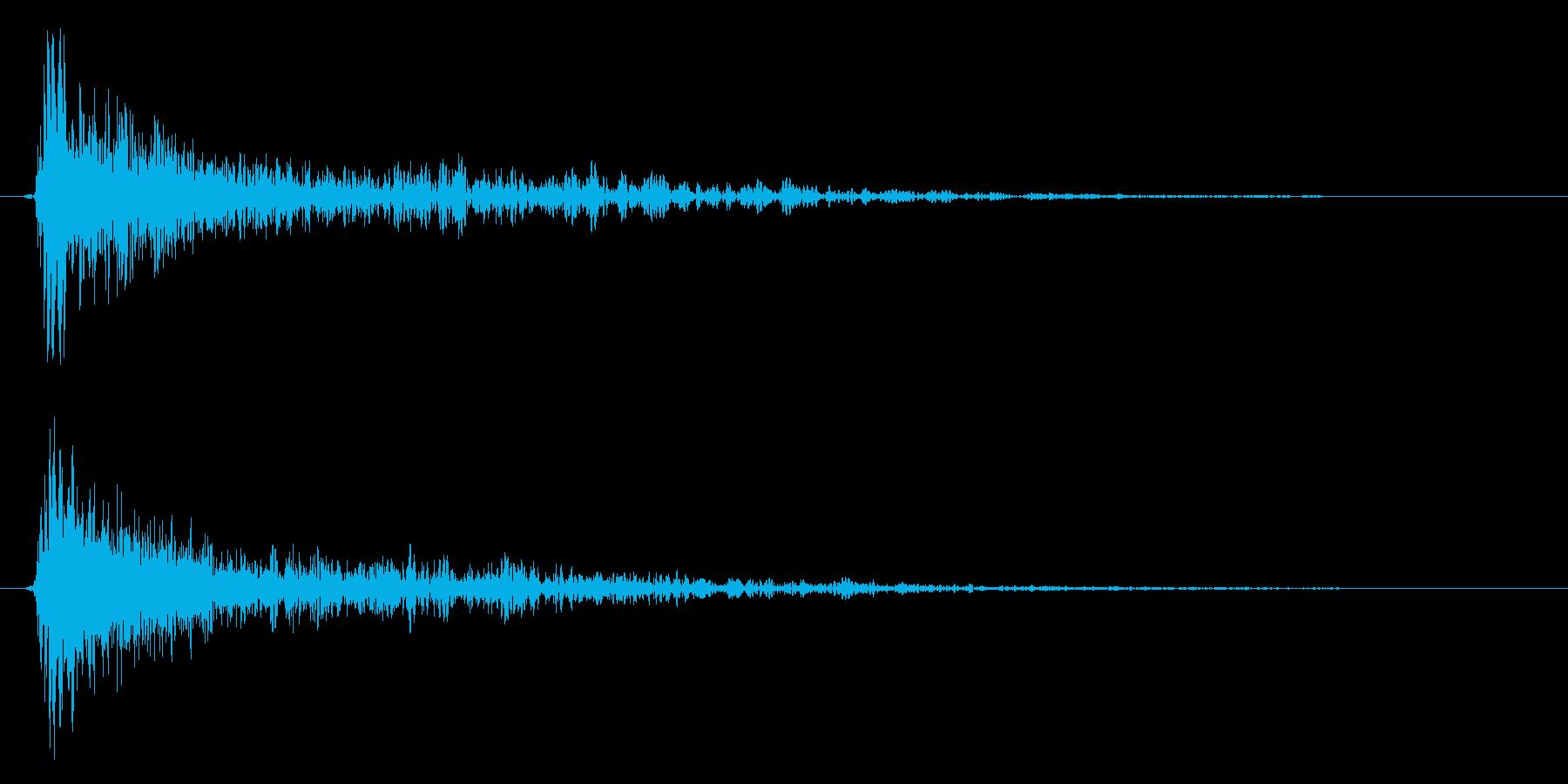 パン!(スネアドラム単発)の再生済みの波形
