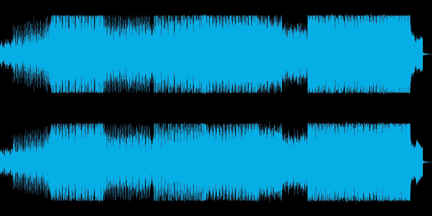 疾走感溢れるテクノサウンドの再生済みの波形