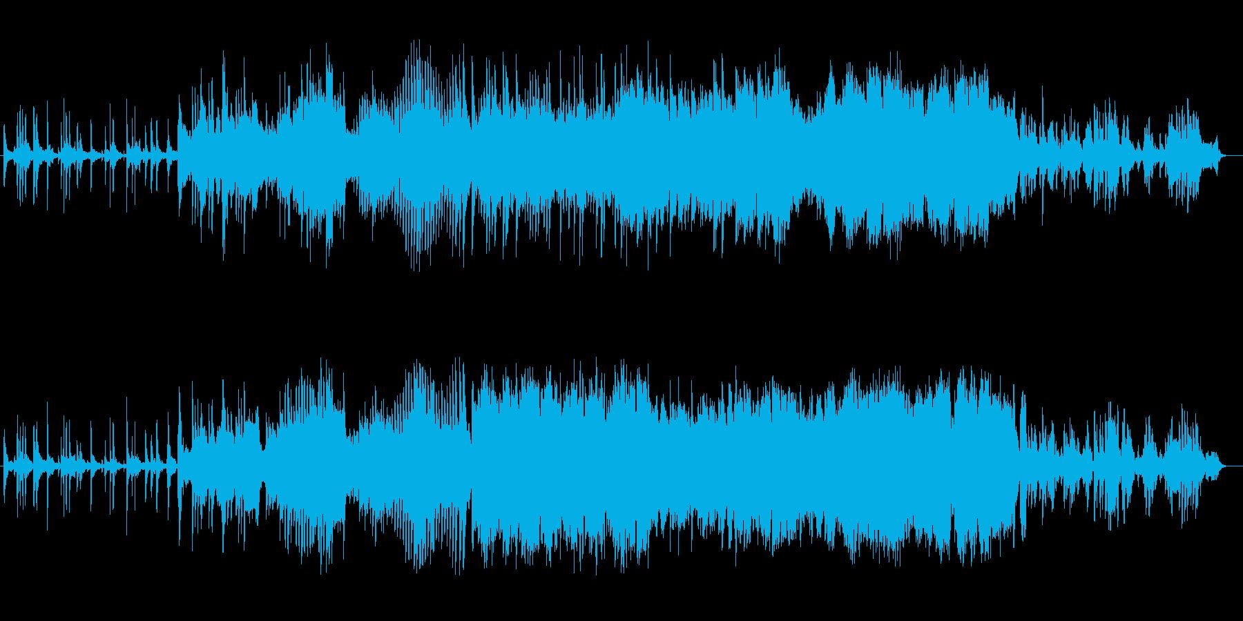 甘く切ないピアノとフルートのオーケストラの再生済みの波形