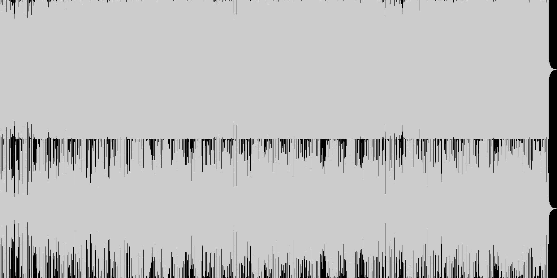 ほのぼのとしたイージーリスニングの未再生の波形