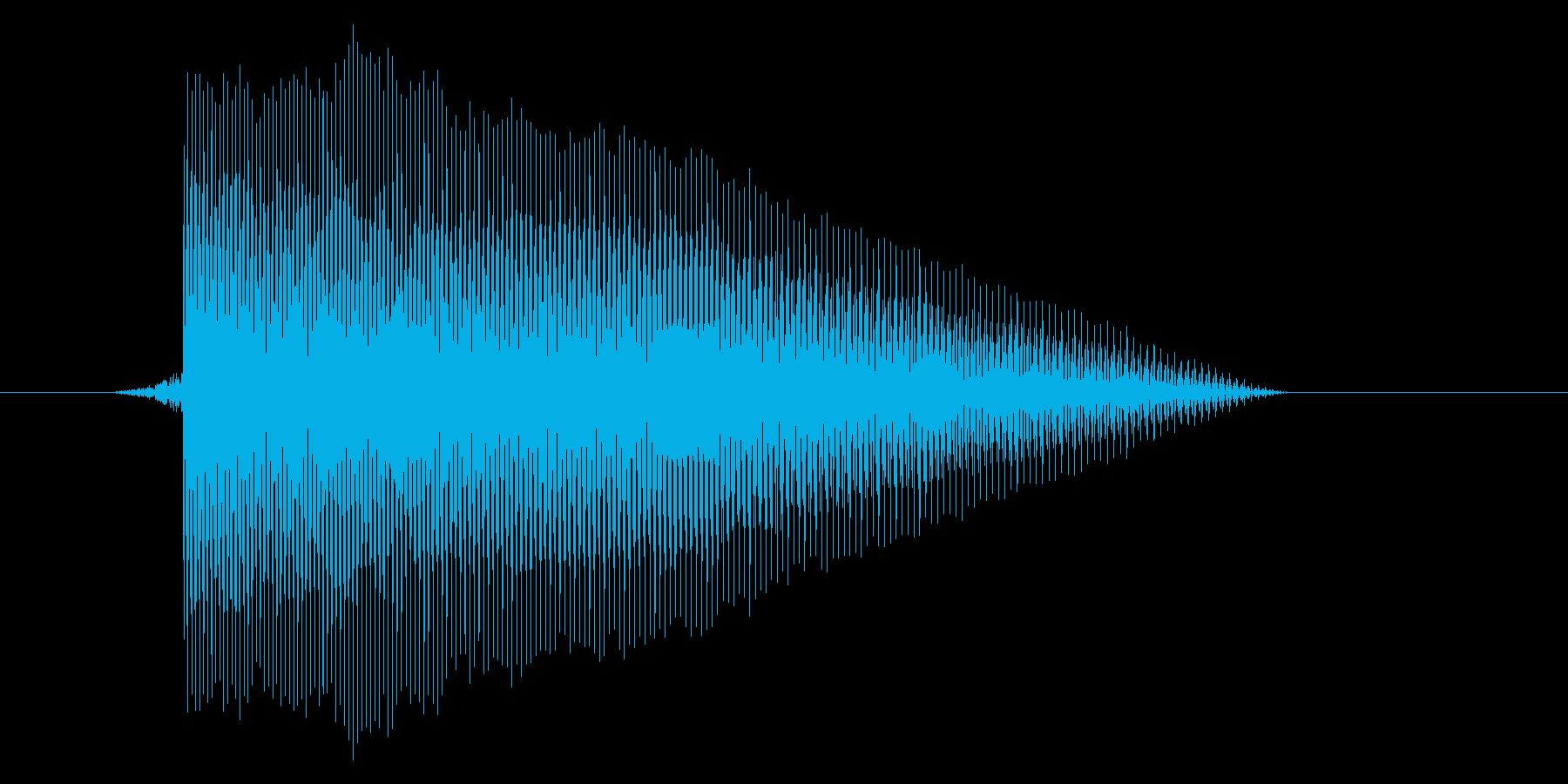 ゲーム(ファミコン風)レーザー音_019の再生済みの波形