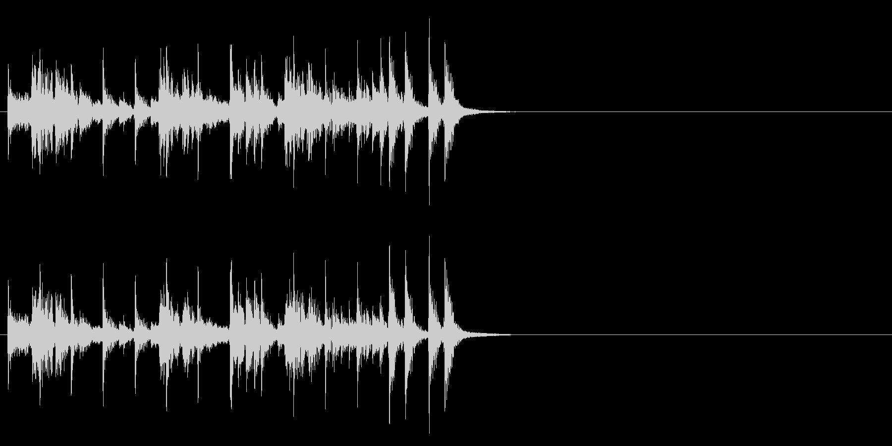 シンセを使った楽しいラテン系ジングルの未再生の波形