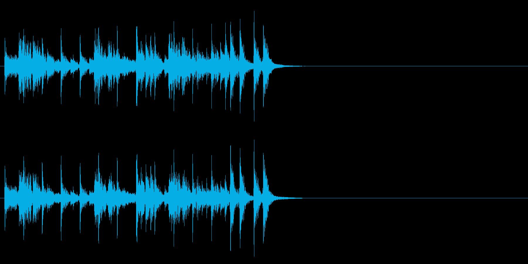 シンセを使った楽しいラテン系ジングルの再生済みの波形