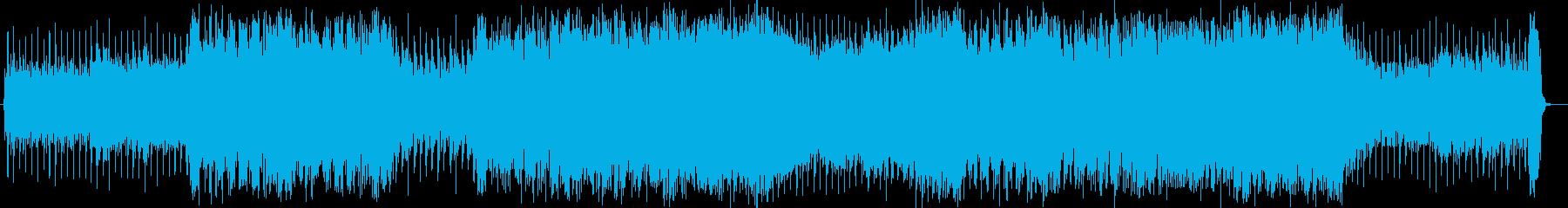 ワイルドで軽快なハードロックの再生済みの波形