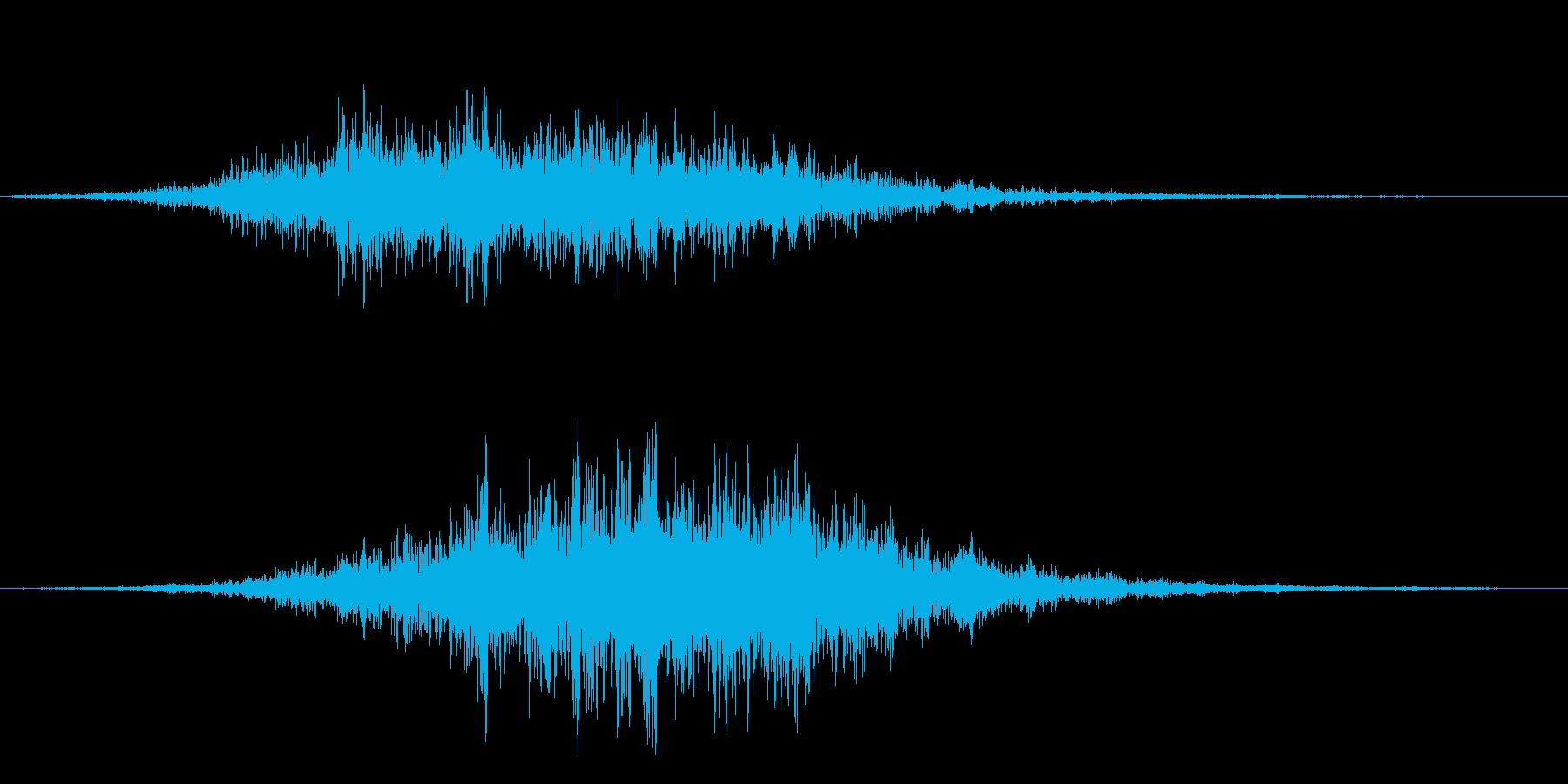 シュルルッ(高速音)の再生済みの波形