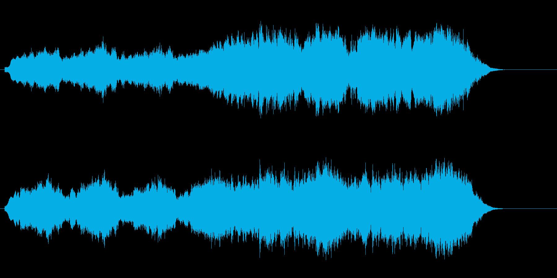 自然の神秘的なネイチャー・アンビエントの再生済みの波形