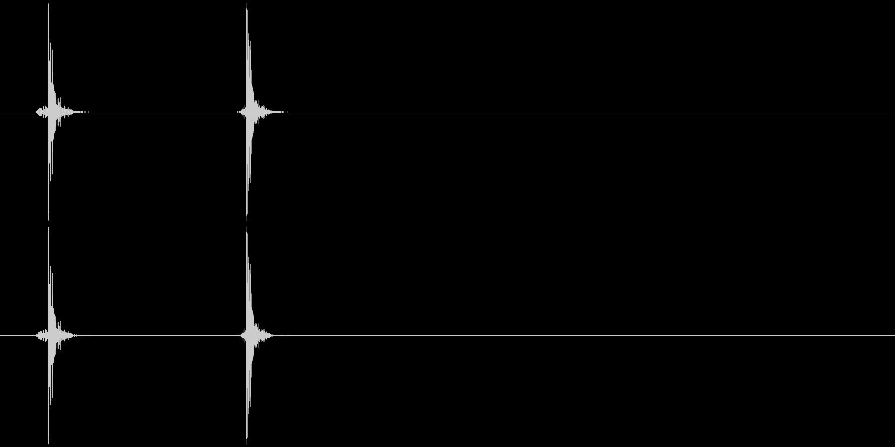 カチ(乾いた音)の未再生の波形