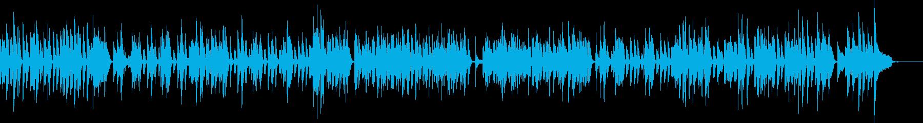 明るいラグタイム・ホンキートンクピアノの再生済みの波形
