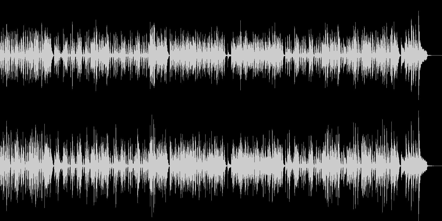 明るいラグタイム・ホンキートンクピアノの未再生の波形