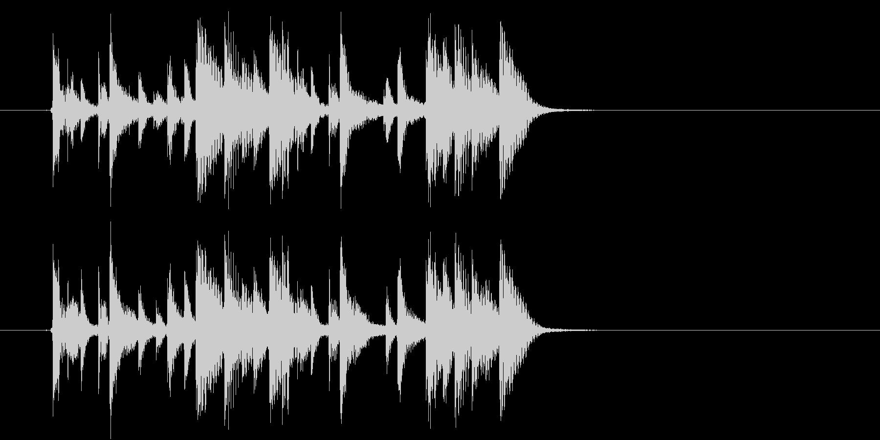 緩やかでマイナーなテクノポップジングルの未再生の波形