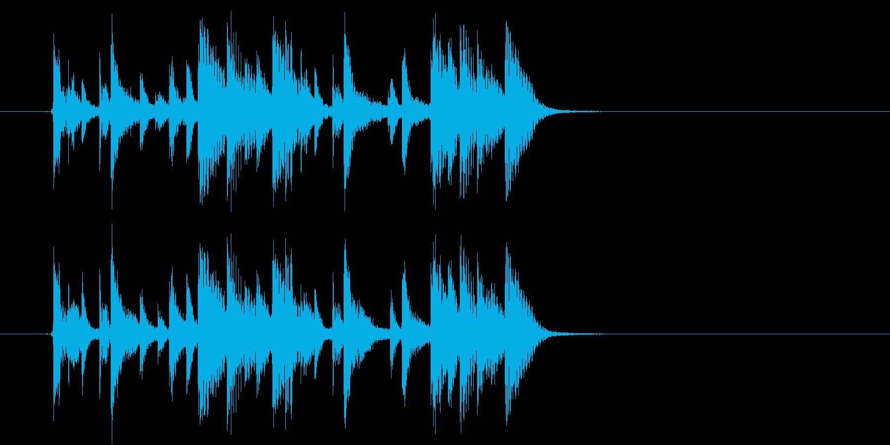 緩やかでマイナーなテクノポップジングルの再生済みの波形