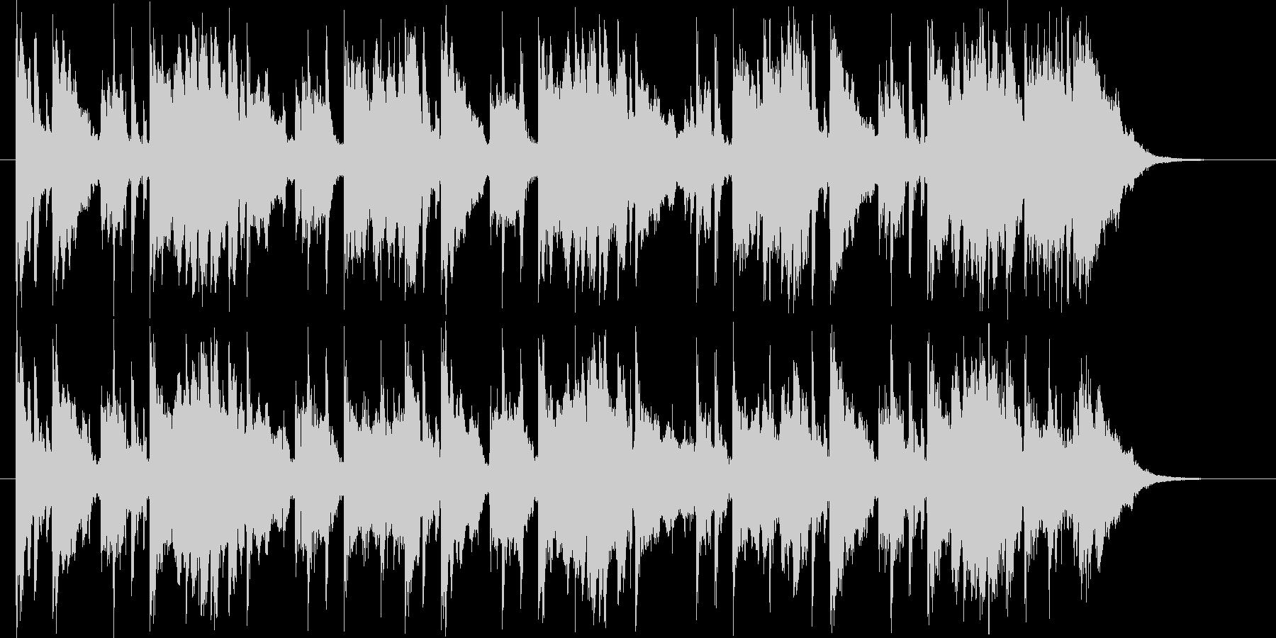 ゆったりとした可憐なシンセポップジングルの未再生の波形