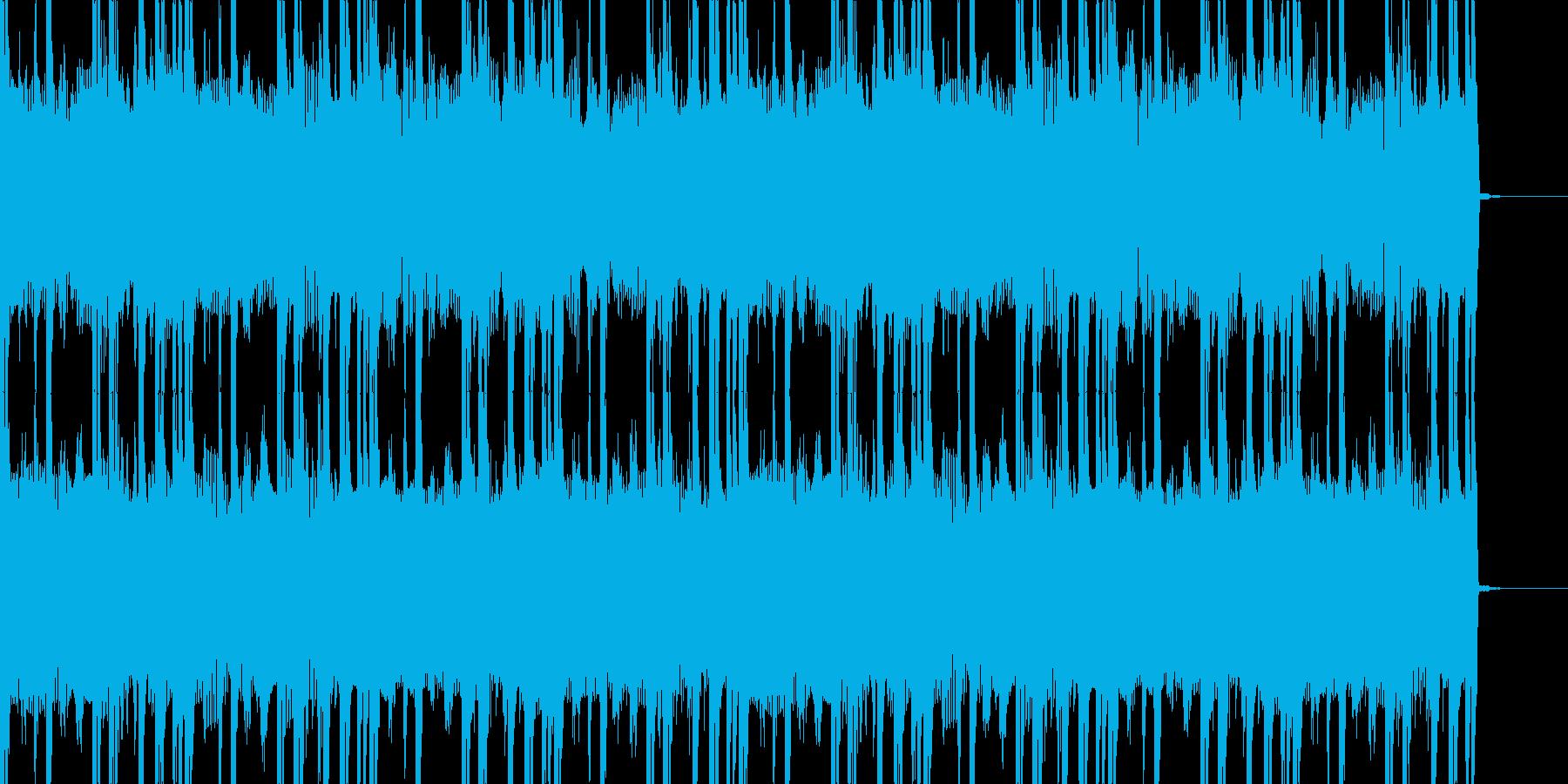 メタル風ギターのかっこいい30秒ジングルの再生済みの波形