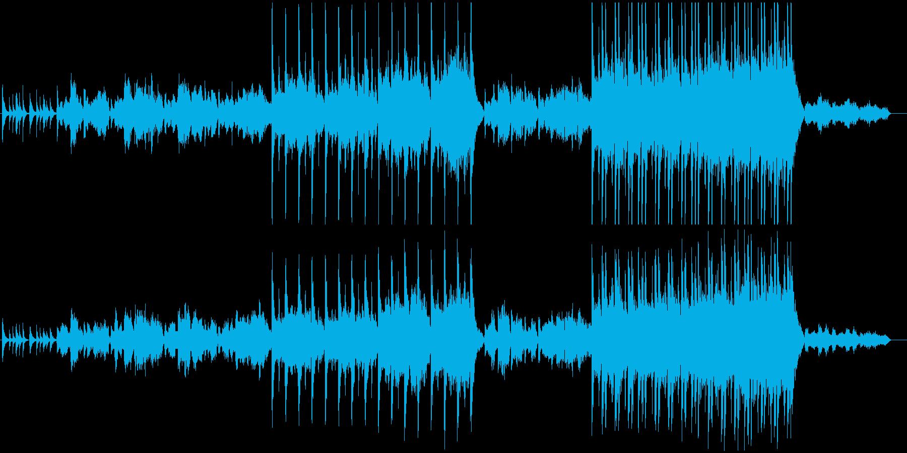 しっとりした和風曲の再生済みの波形