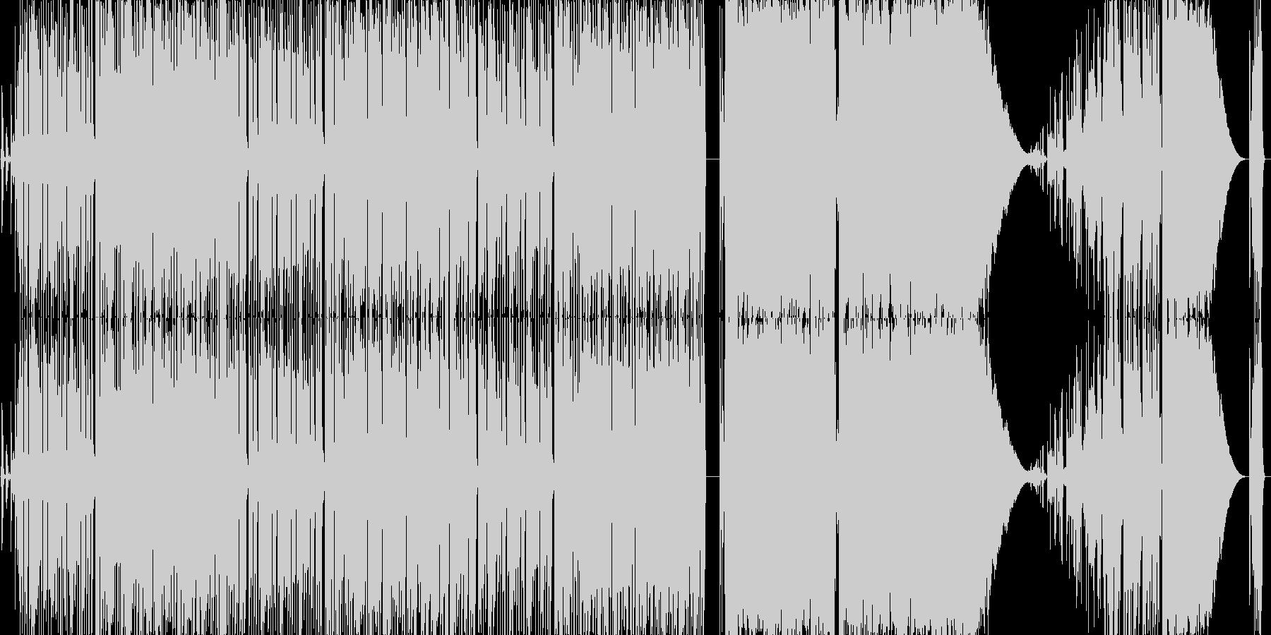 可愛い元気の出る超展開の曲の未再生の波形