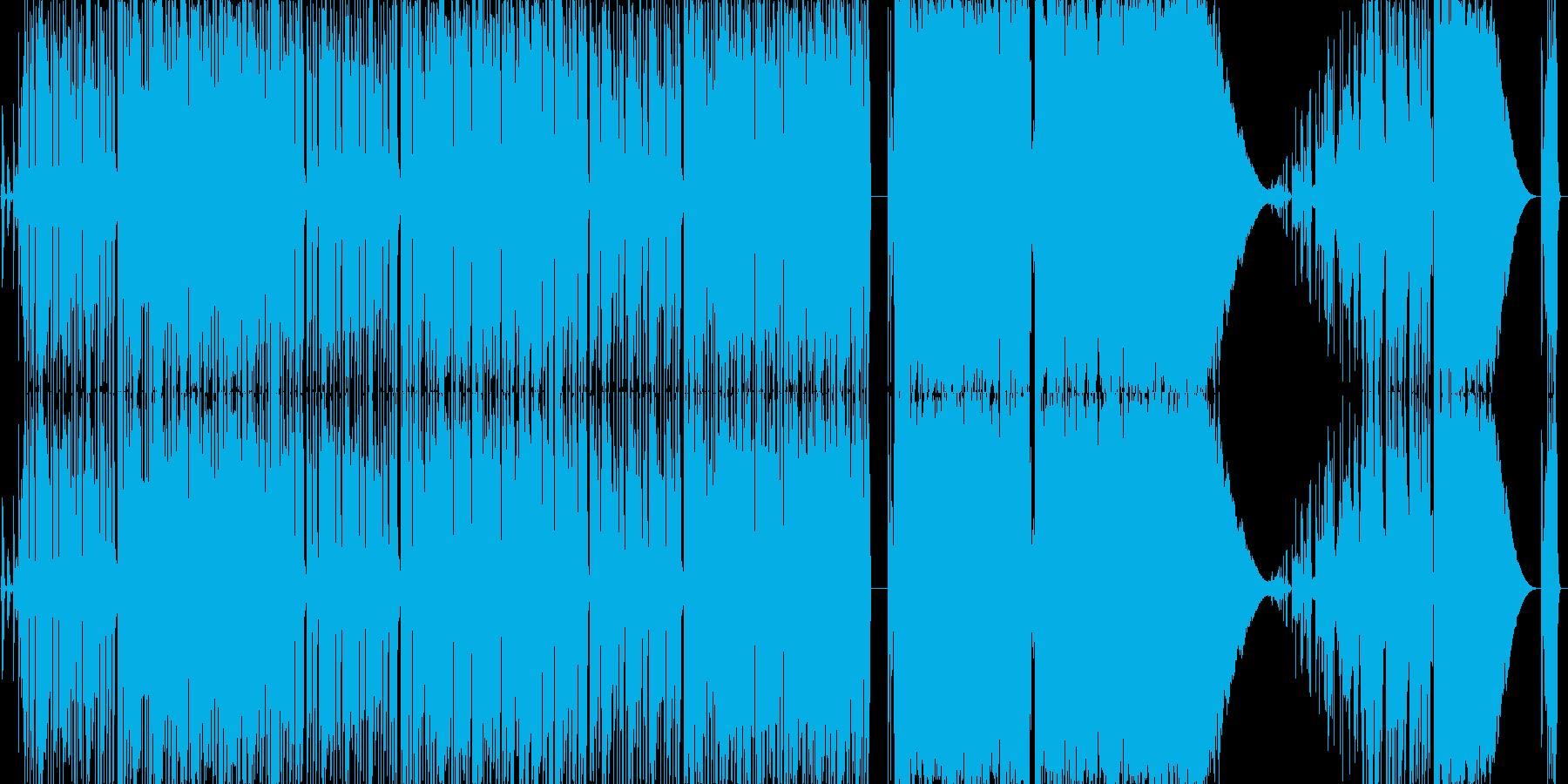 可愛い元気の出る超展開の曲の再生済みの波形