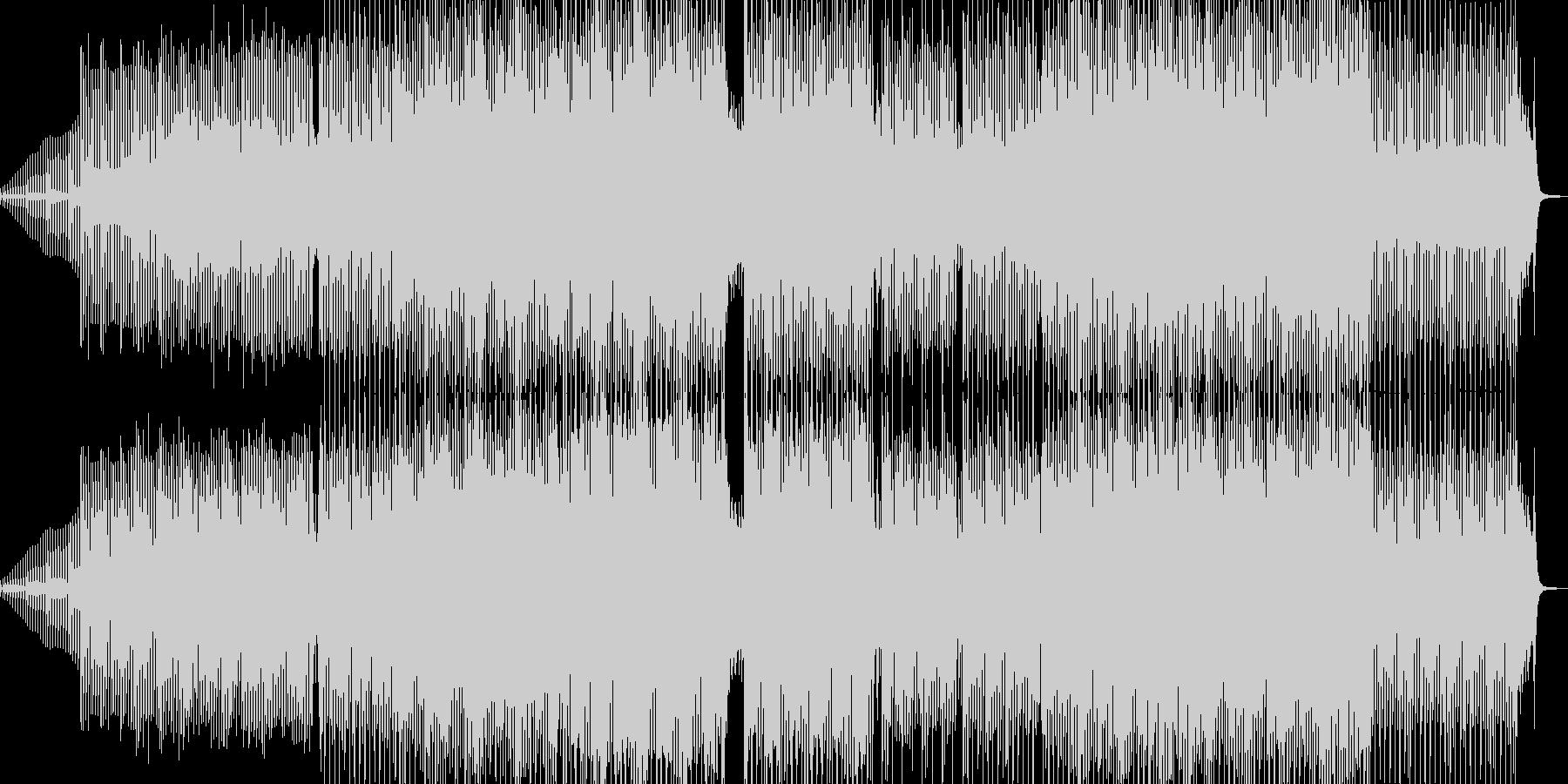 愉快な響きの琴が印象的なテクノの未再生の波形