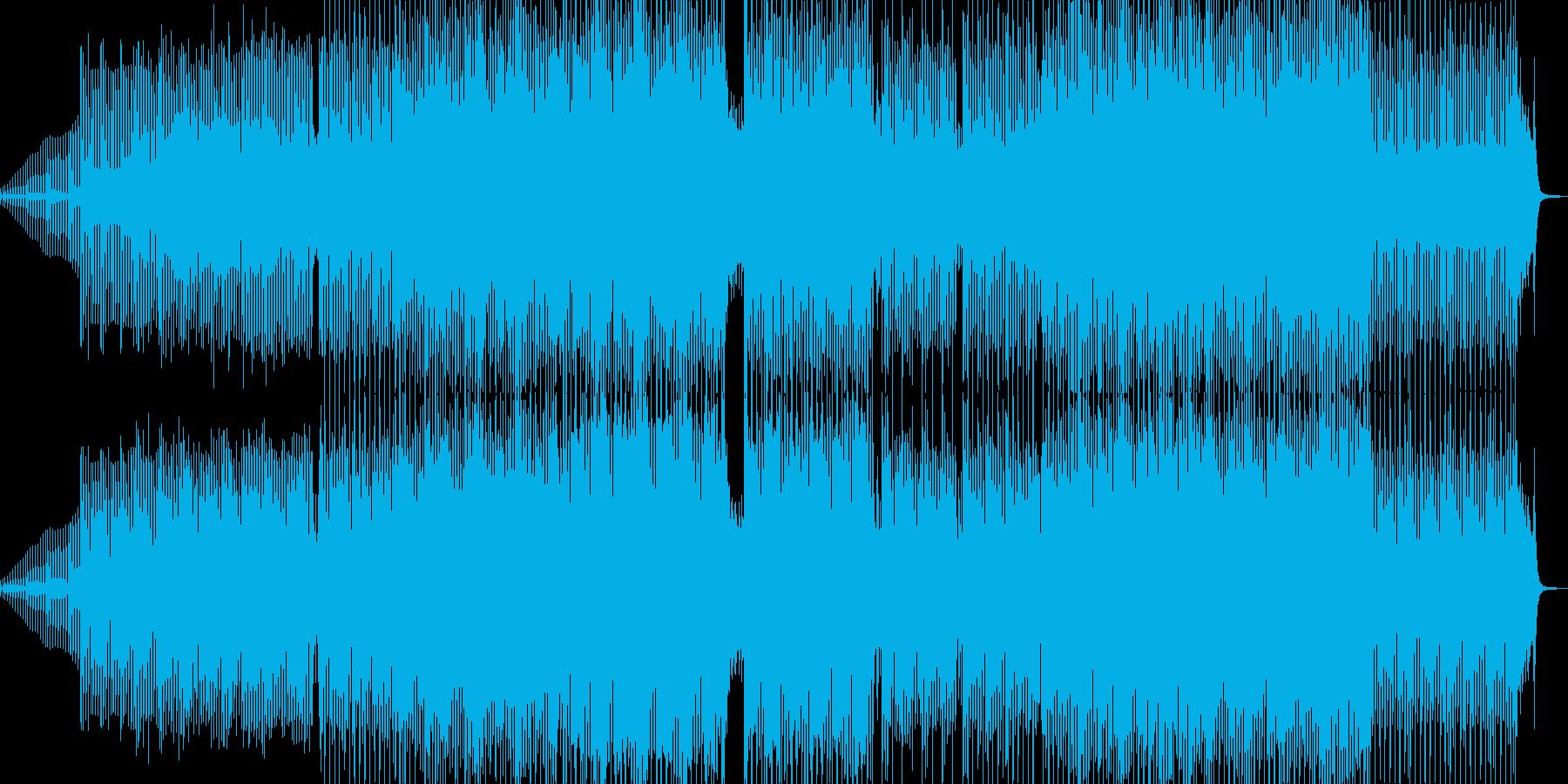 愉快な響きの琴が印象的なテクノの再生済みの波形