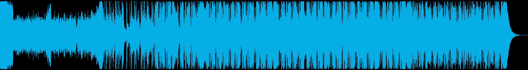 ダークなヒップホップ系BGMの再生済みの波形