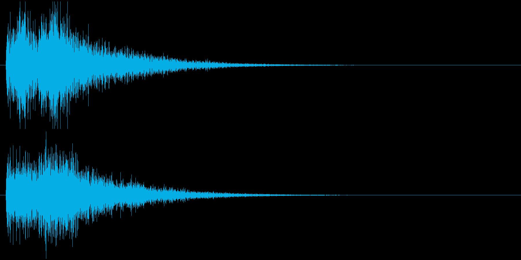 クイズ出題音(デデン!)の再生済みの波形
