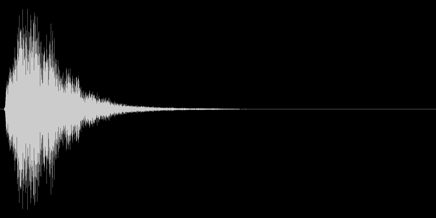タッチすると光が広がるイメージの決定音1の未再生の波形