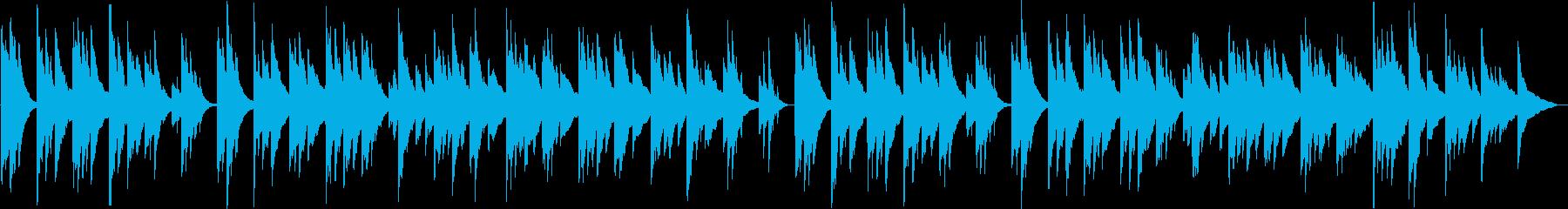 寂しく切ないシンセサイザーサウンドの再生済みの波形