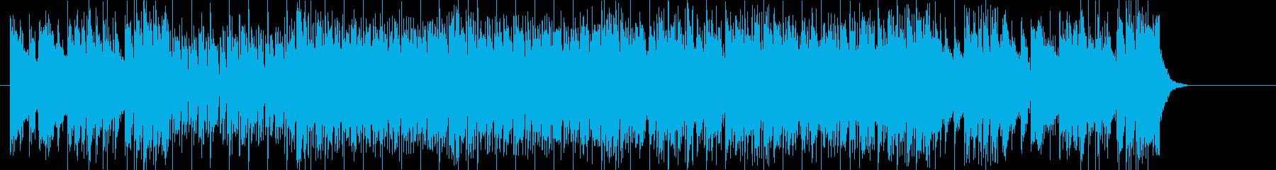 テーマ曲向けのはつらつとしたフュージョンの再生済みの波形