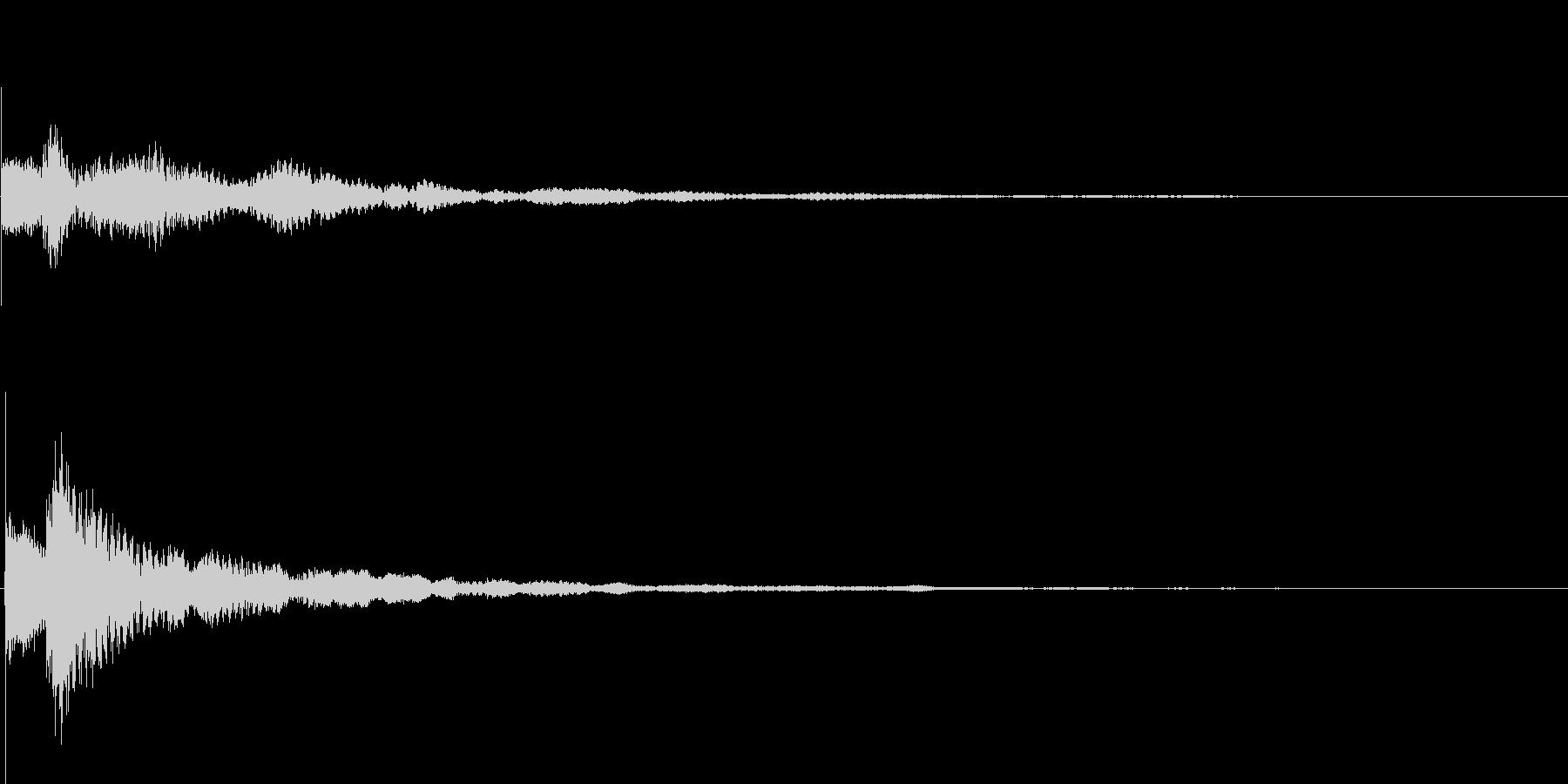 テローン テロップ・決定音・タッチ音の未再生の波形