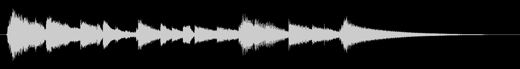 眠りと目覚めを連想させるサウンドロゴ4の未再生の波形