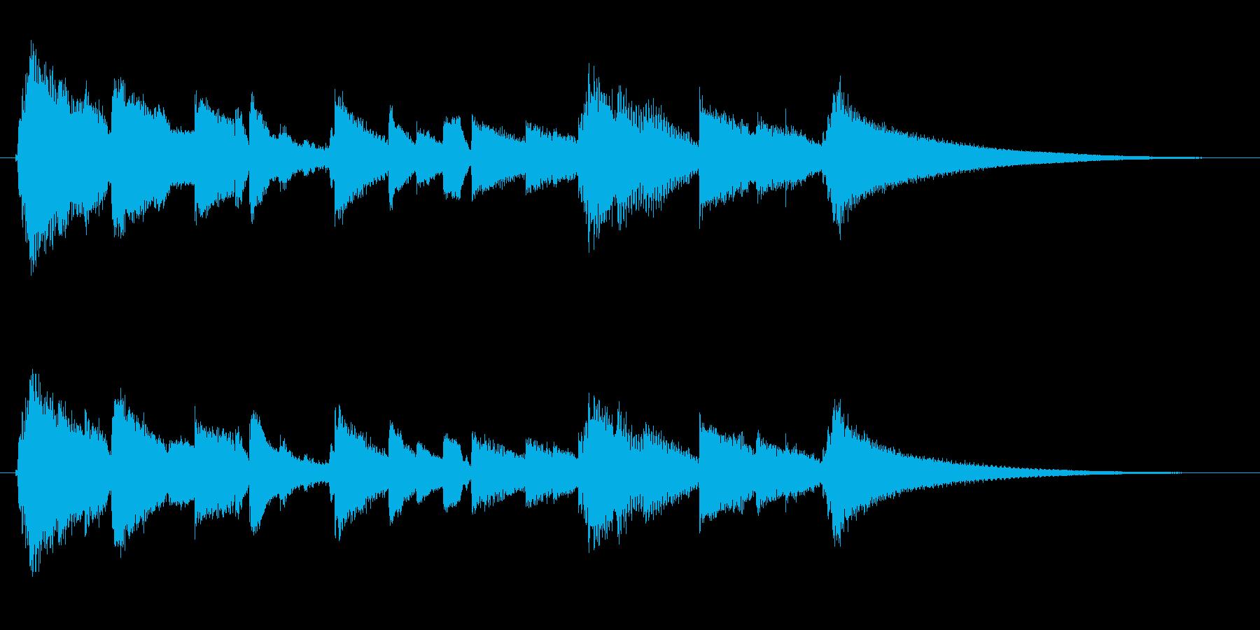 眠りと目覚めを連想させるサウンドロゴ4の再生済みの波形