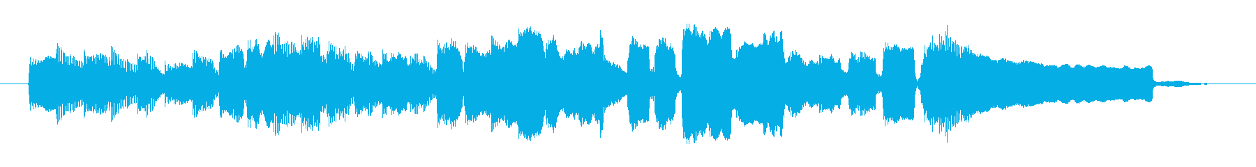 ほのぼのとしたノスタルジックな曲の再生済みの波形