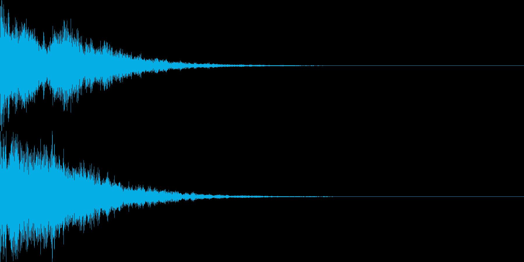 決定音54_シンセZの再生済みの波形