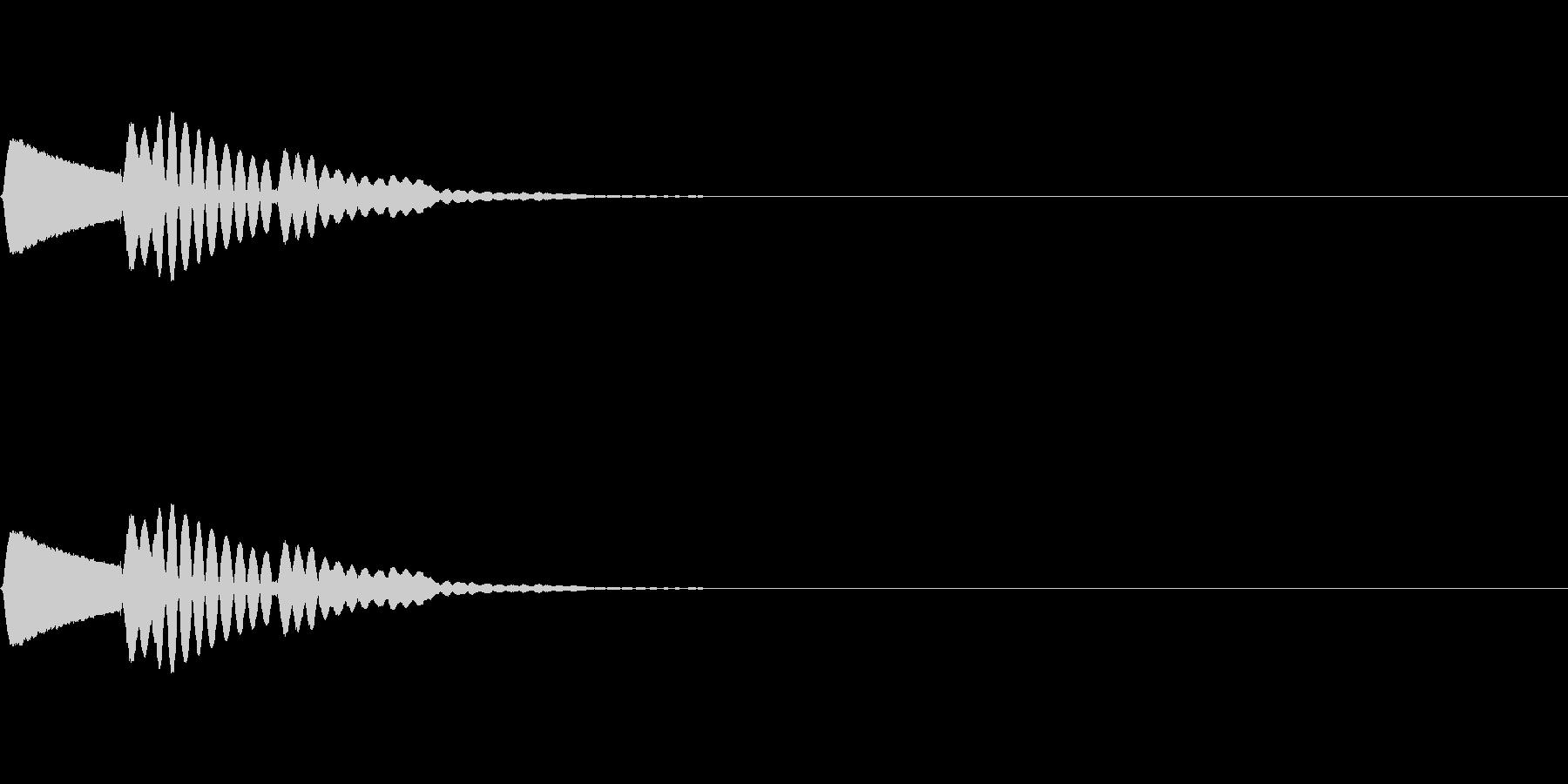 【ピロン】選択音 クリック タッチ 操作の未再生の波形