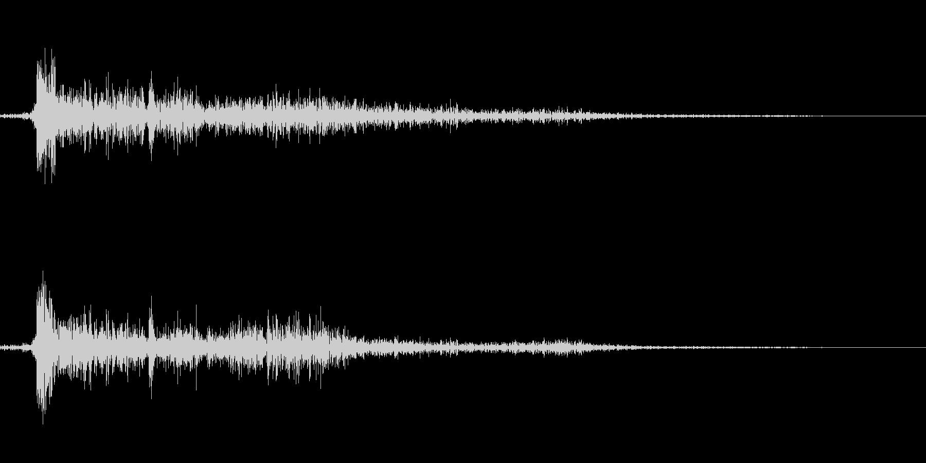 【銃声音005】ピストルやライフル発砲音の未再生の波形