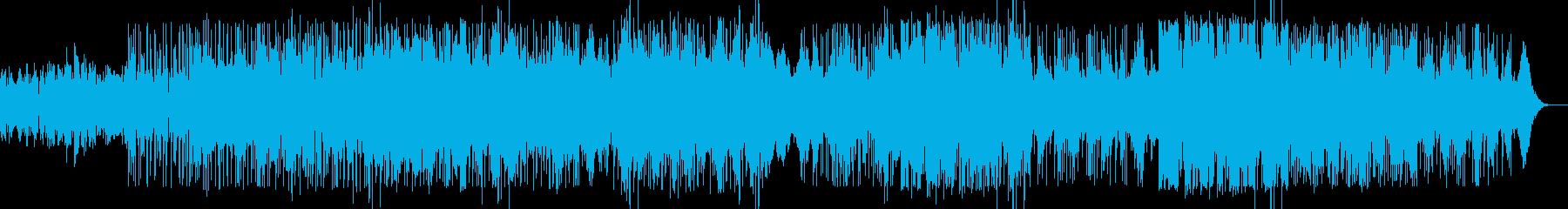 破壊的でノイジーでパーカッシブな電子音楽の再生済みの波形