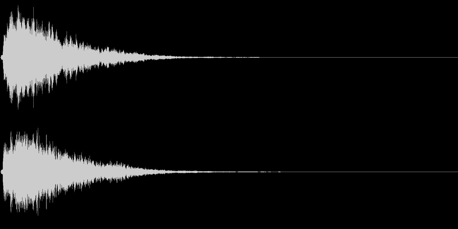 キラキラ輝く テロップ音 ボタン音!3bの未再生の波形