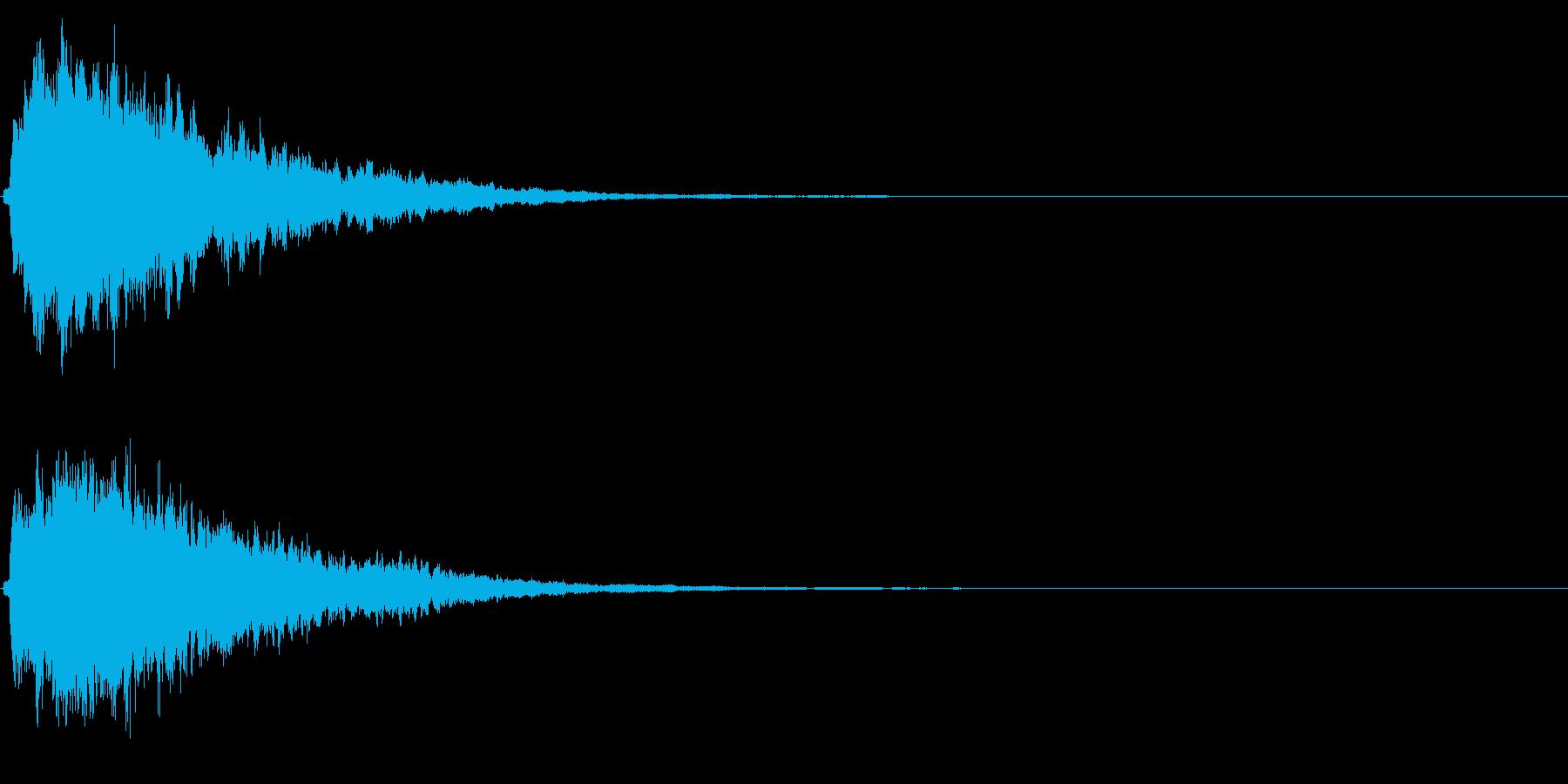 キラキラ輝く テロップ音 ボタン音!3bの再生済みの波形