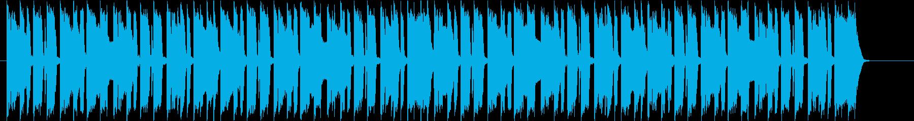 40秒ほどのジングルにも使えるBGMですの再生済みの波形