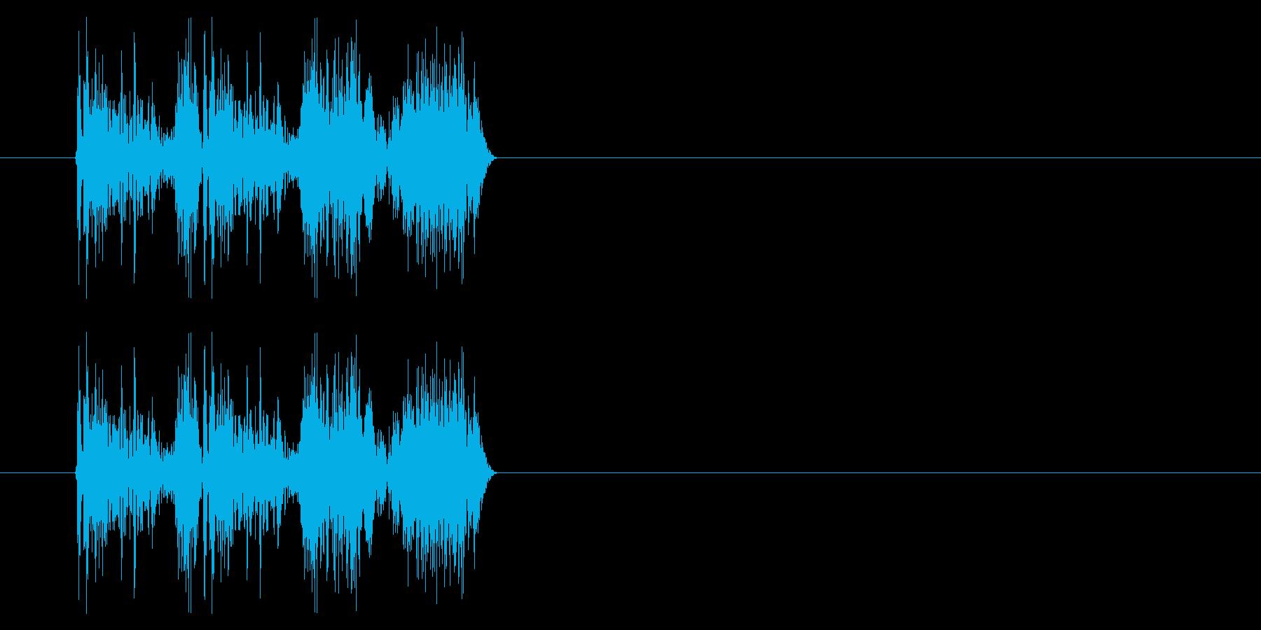 斬る04-2の再生済みの波形