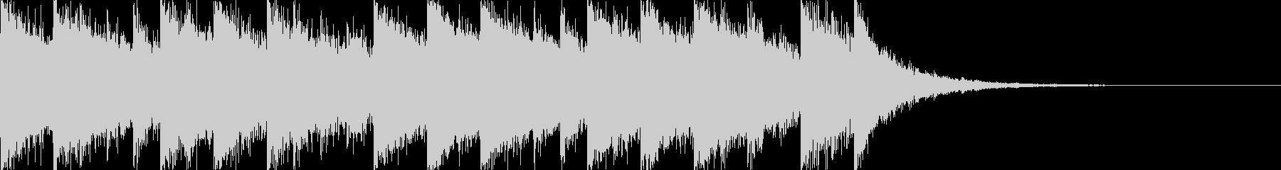 かっこいいさわやかな10秒EDMジングルの未再生の波形