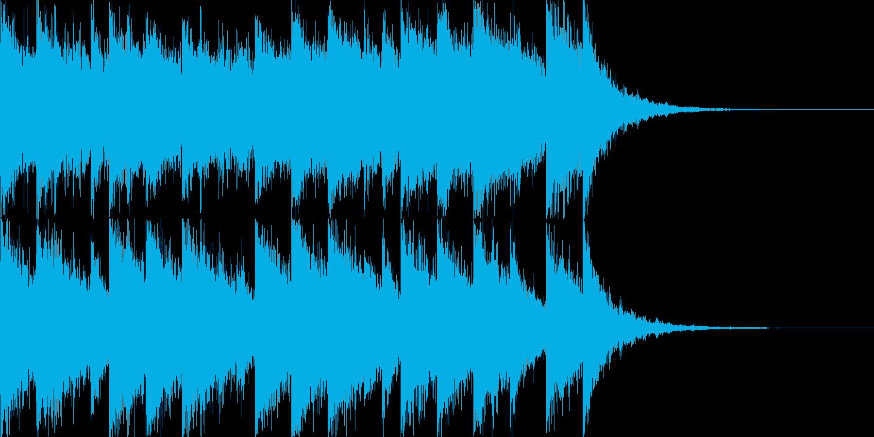 かっこいいさわやかな10秒EDMジングルの再生済みの波形